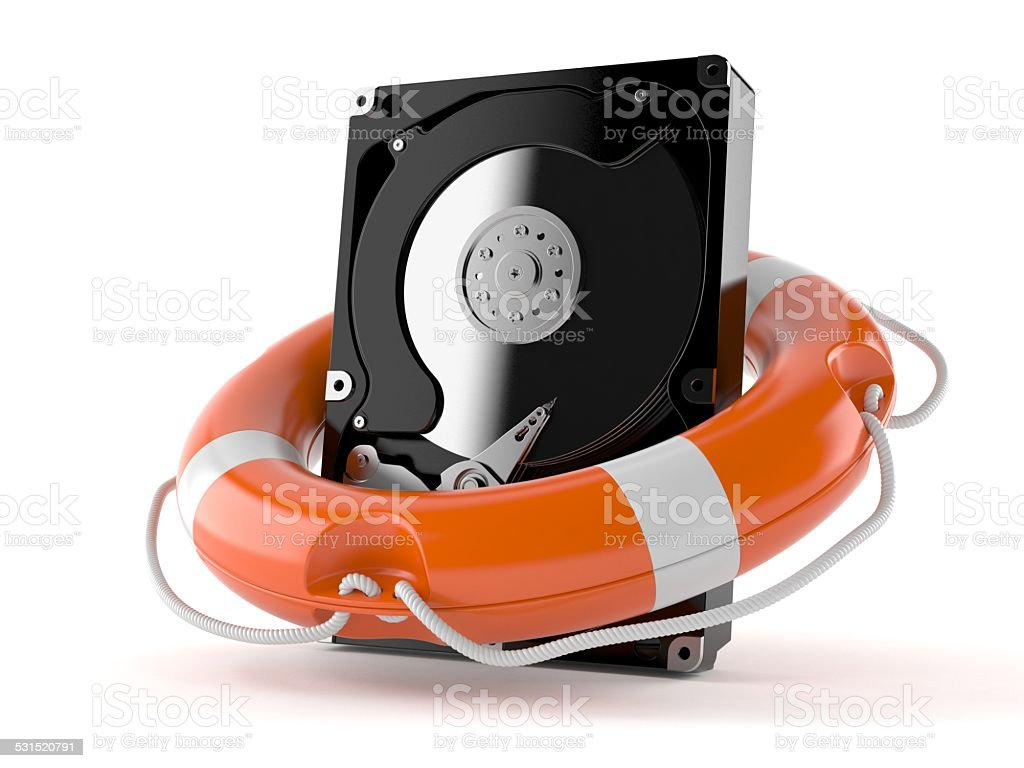 Hard drive help royalty-free stock photo