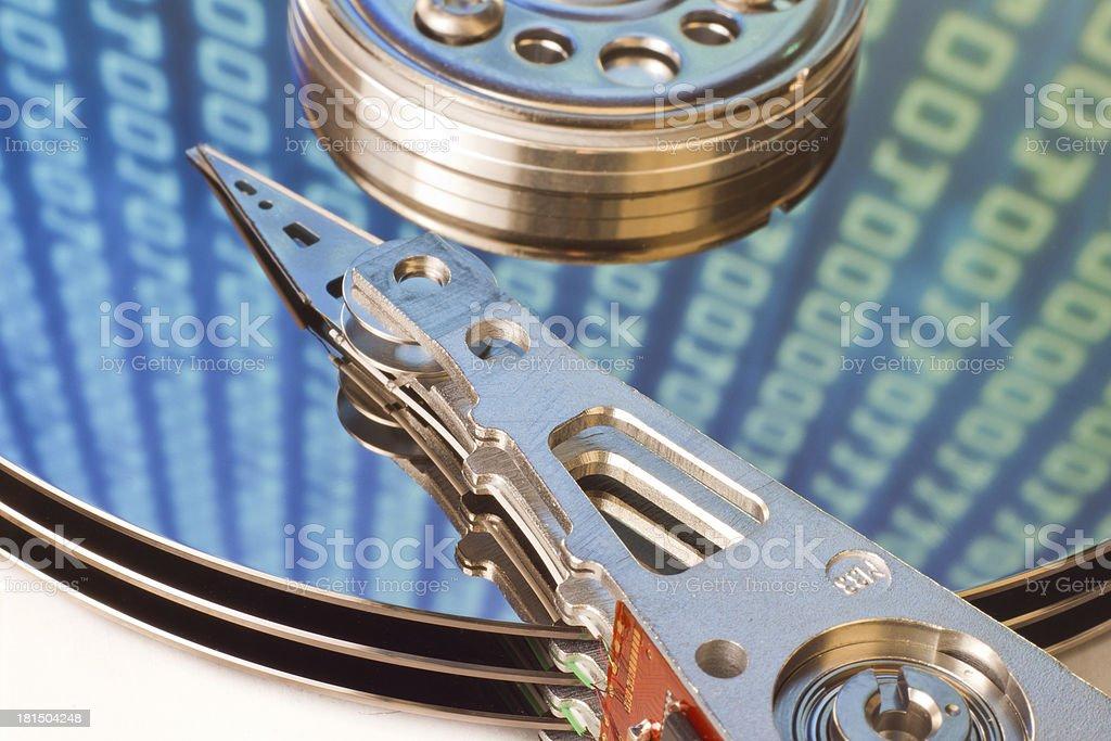 hard drive internals royalty-free stock photo