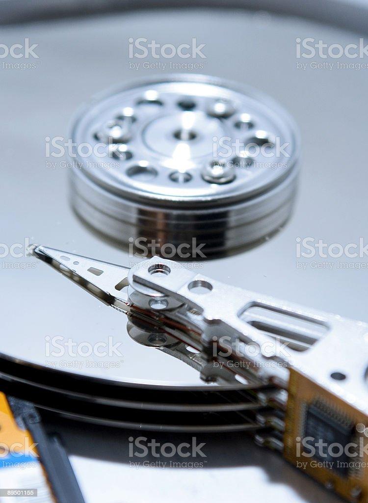 Hard drive internals royalty free stockfoto