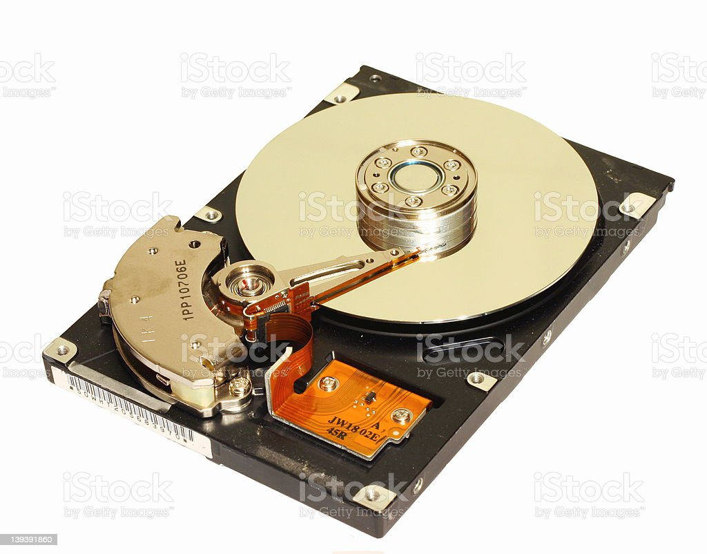 Hard Drive - Isolated royalty-free stock photo