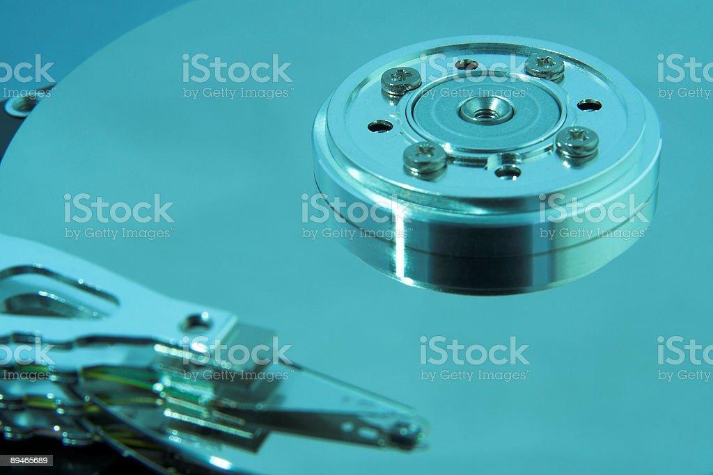 hard drive macro royalty-free stock photo