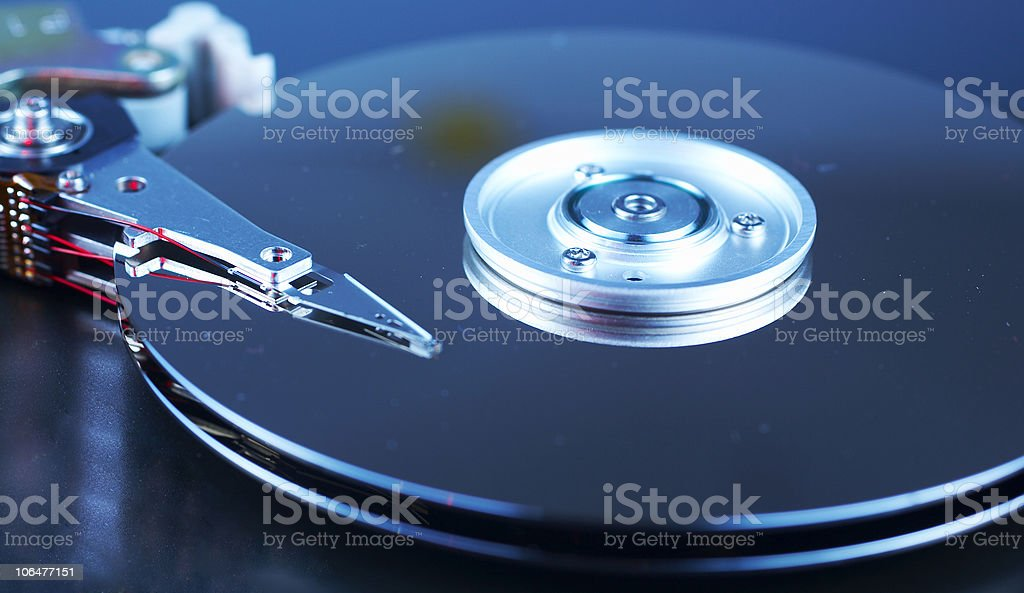 Hard drive royalty-free stock photo