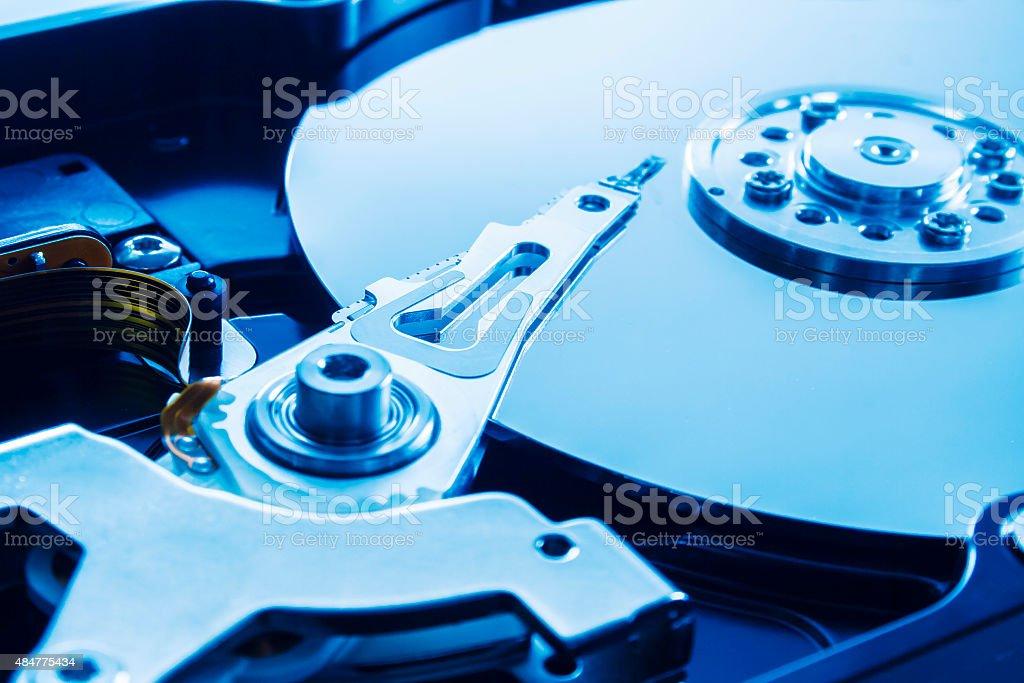 Hard drive series stock photo