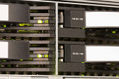 Four hard drives from a high-end enterprise class fiber channel disk system