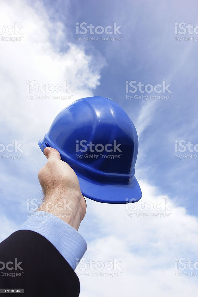 Hard Hat Clouds Vertical royalty-free stock photo
