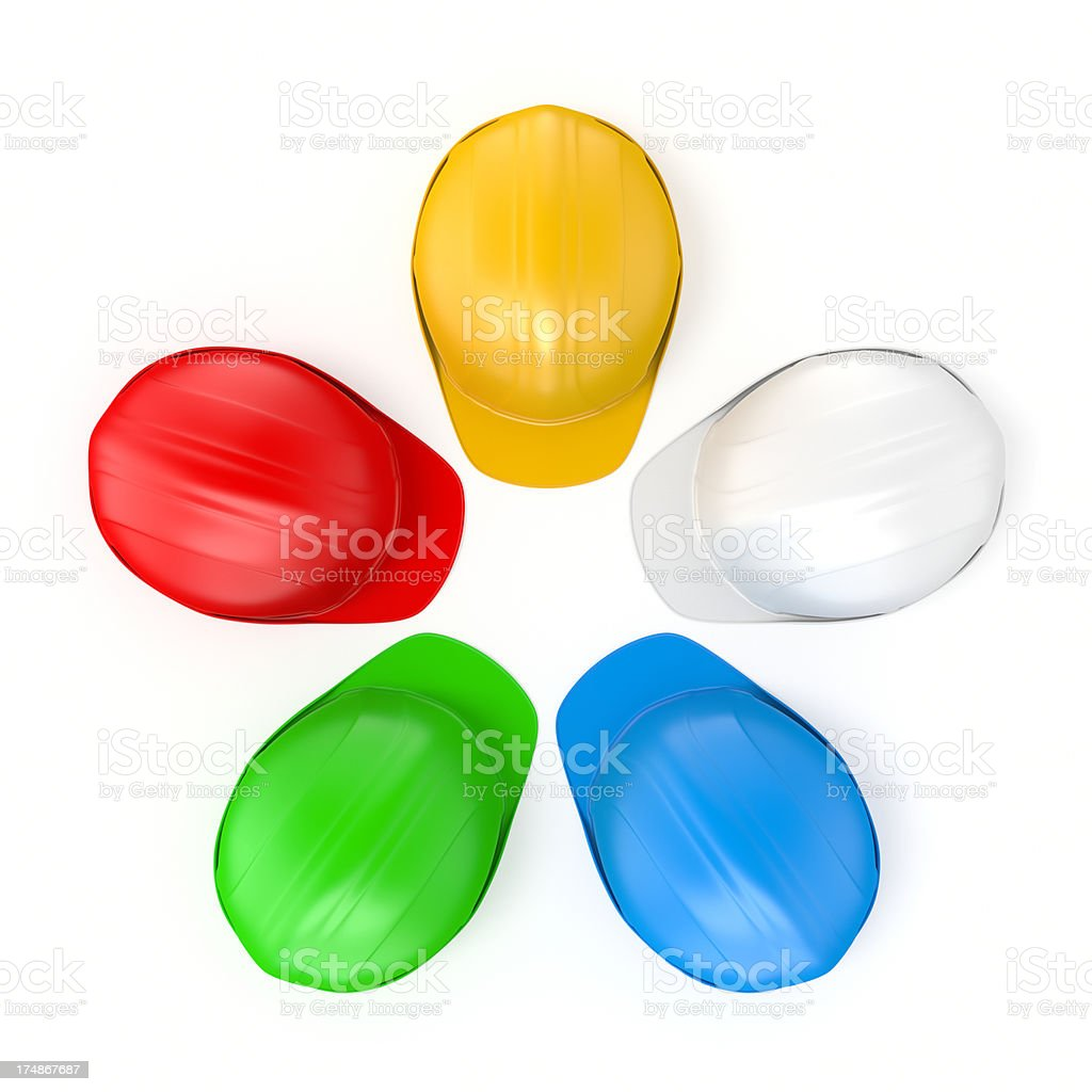 Hard Hat Colours XL+ royalty-free stock photo