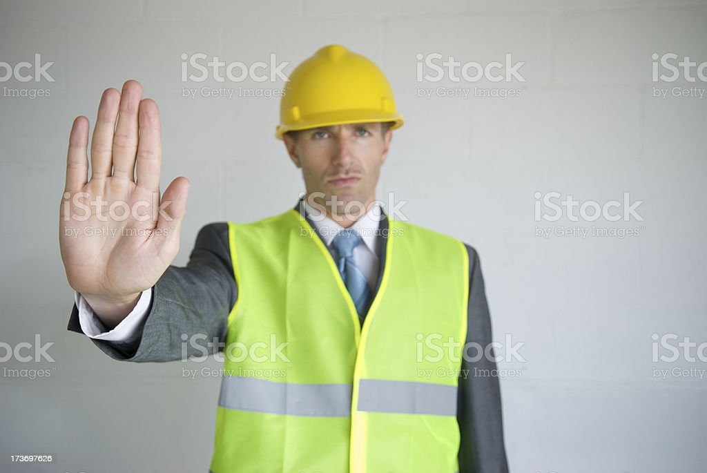 Hard Hat Hand Out royalty-free stock photo
