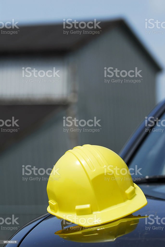 Hard Hat on Site royalty-free stock photo