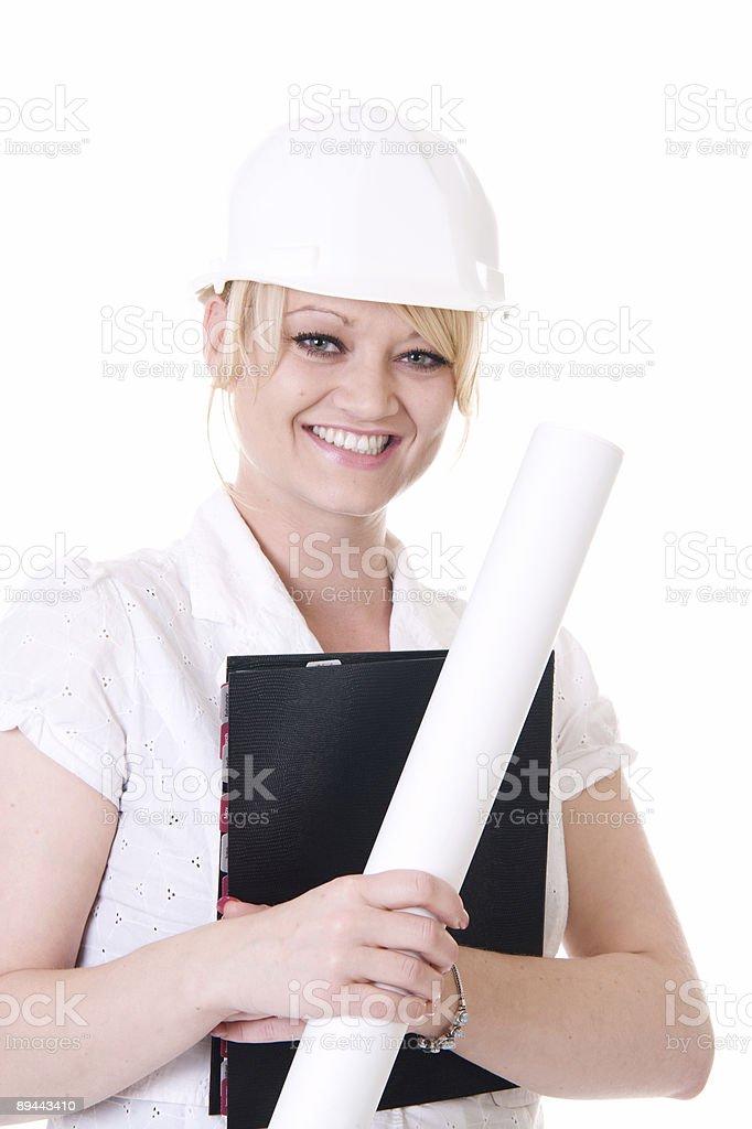 Hard Hat Woman royalty-free stock photo
