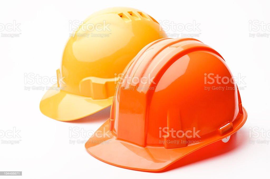 Hard hats stock photo