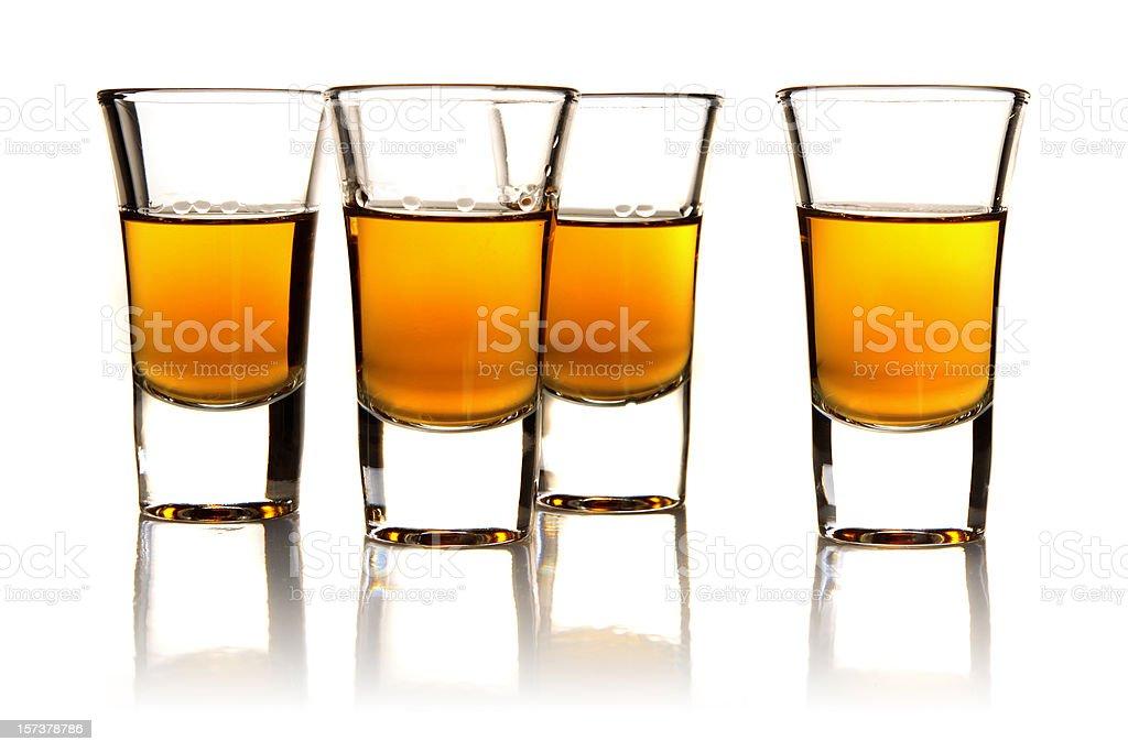 hard liquor shots royalty-free stock photo