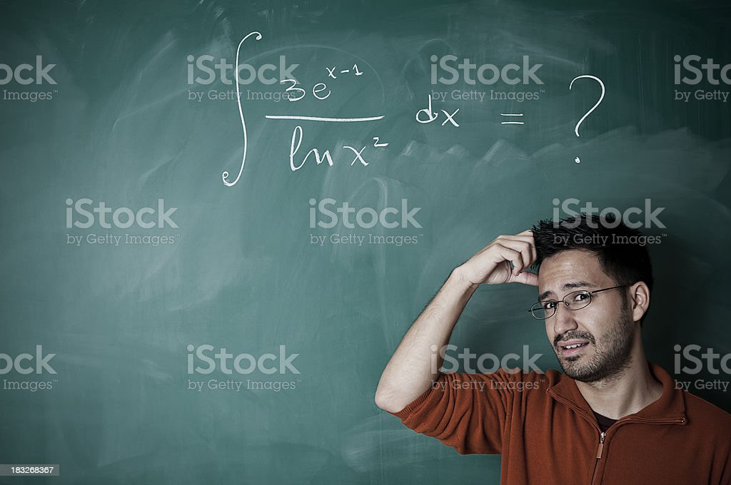 Hard Math Problem To Solve Iii Stock Photo & More Pictures of Adults ...