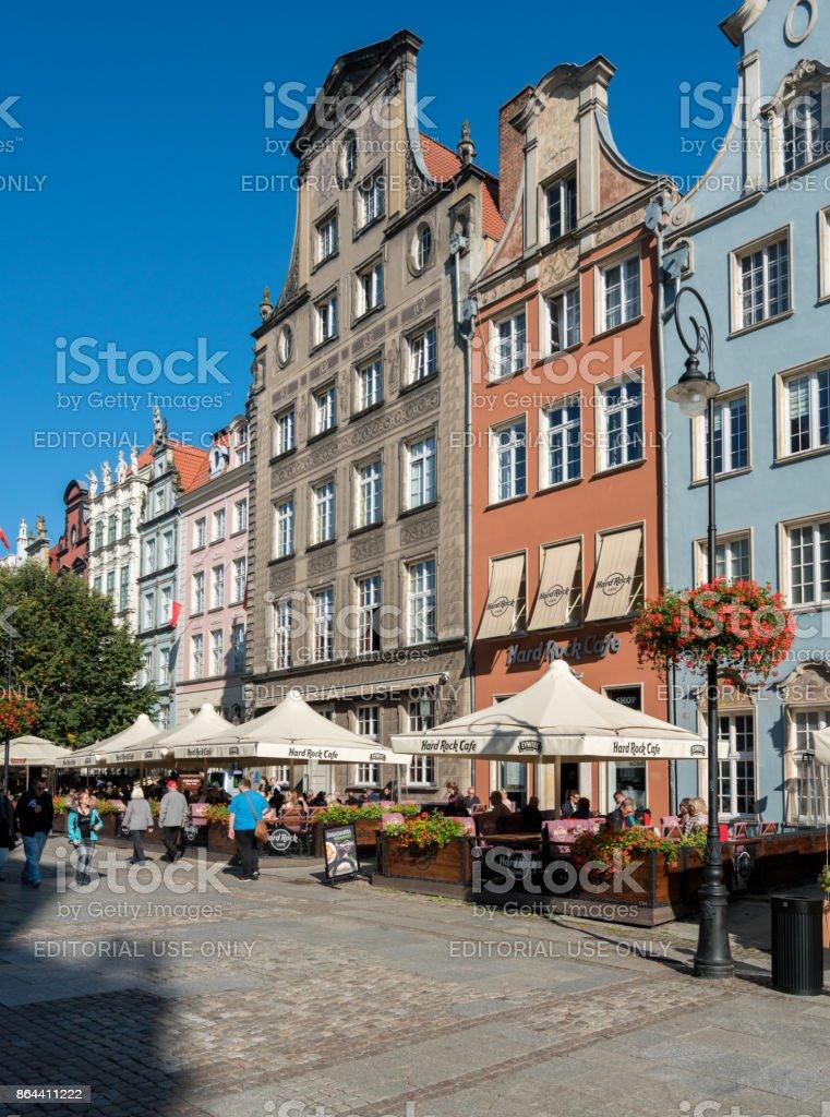 Hard Rock Cafe on Long Lane in Gdansk, Poland stock photo
