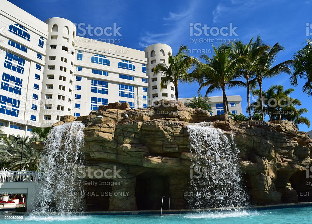 Hard Rock Tropical Pool stock photo