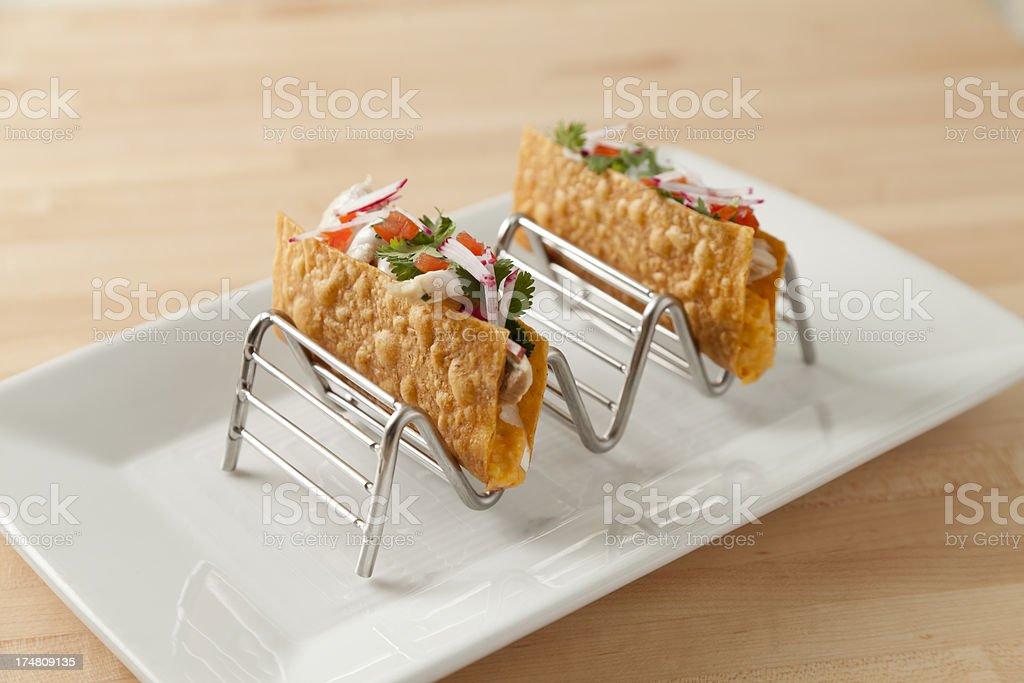 Hard Shell Tacos royalty-free stock photo