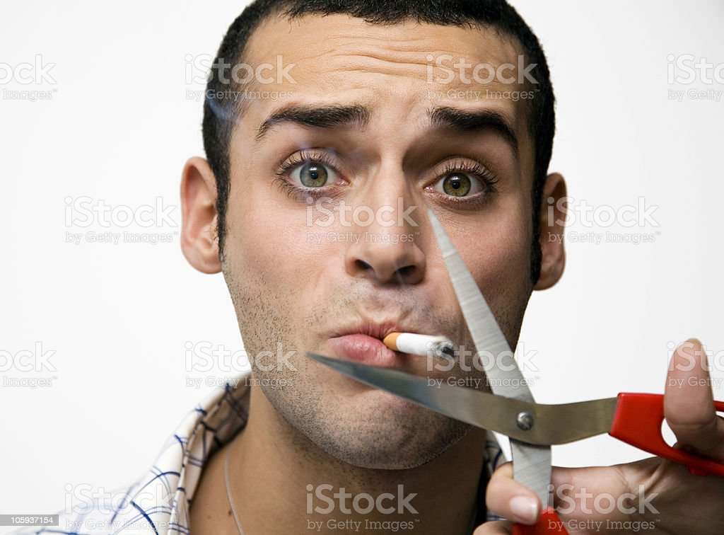 hard smoker stock photo