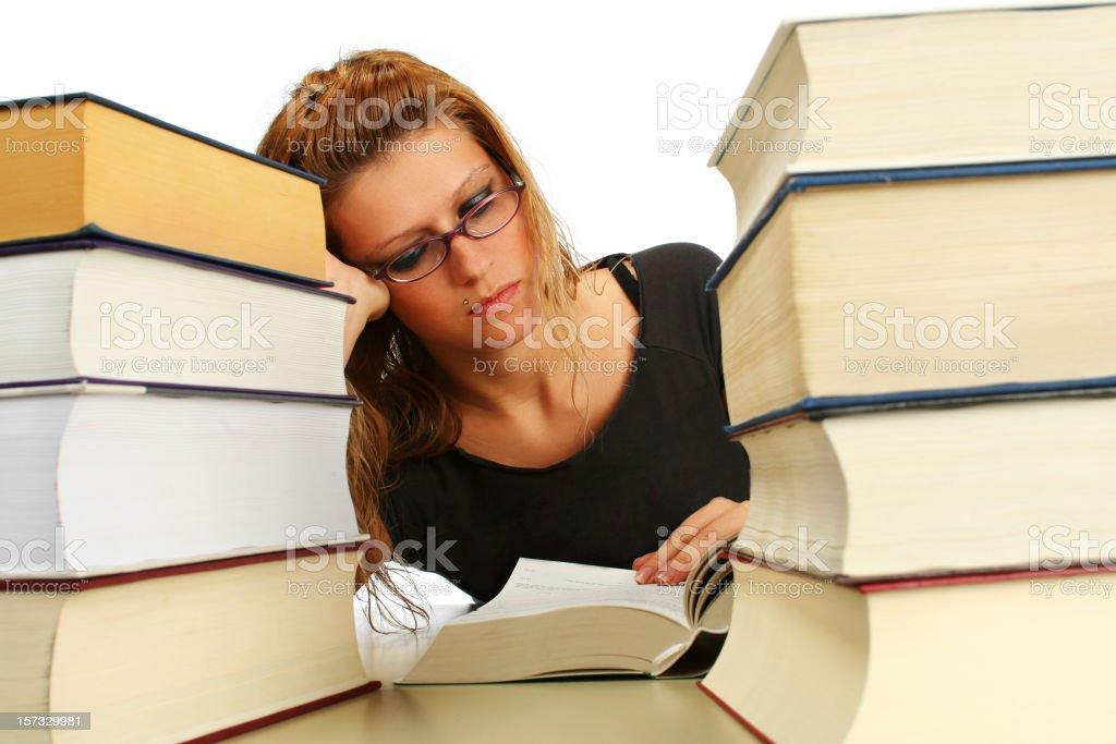 Hard study royalty-free stock photo
