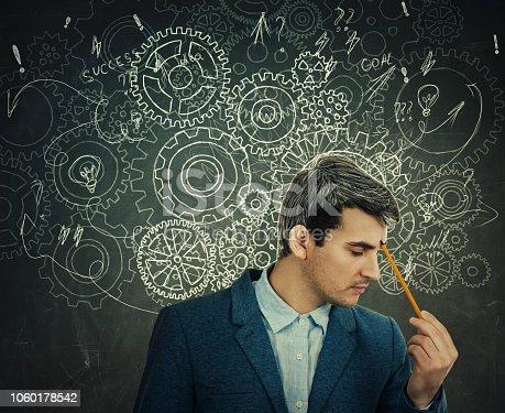istock Hard thinking serious man 1060178542
