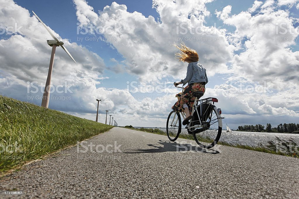 hard wind stock photo