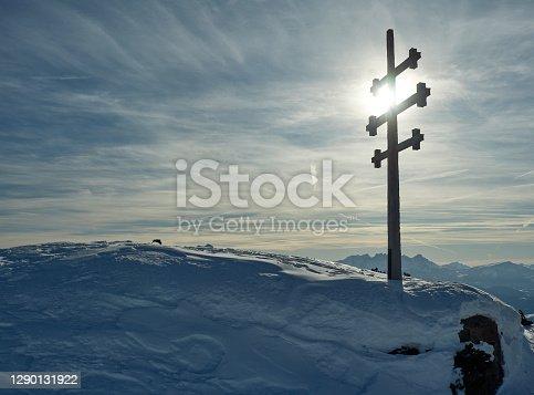 istock Hard winter in the Dolomites, Rittner Horn / Corno del Renon. 1290131922