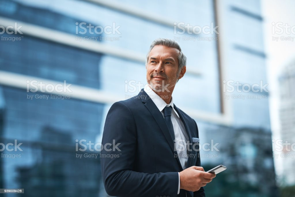 Hard work, determination, persistence creates a boss stock photo