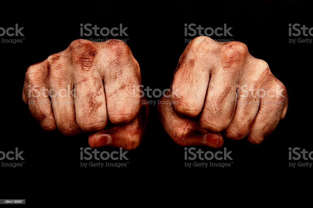 Hard Work Fists stock photo