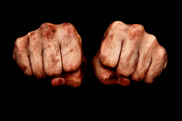hard work fists - knuckle stock photos and pictures