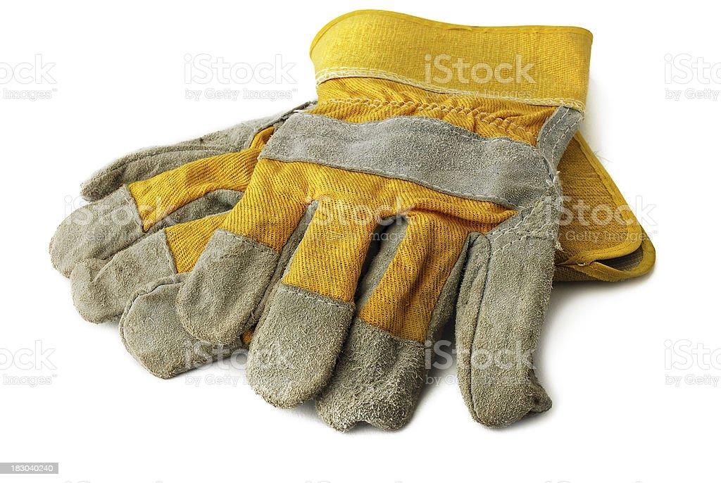 Hard work glove stock photo