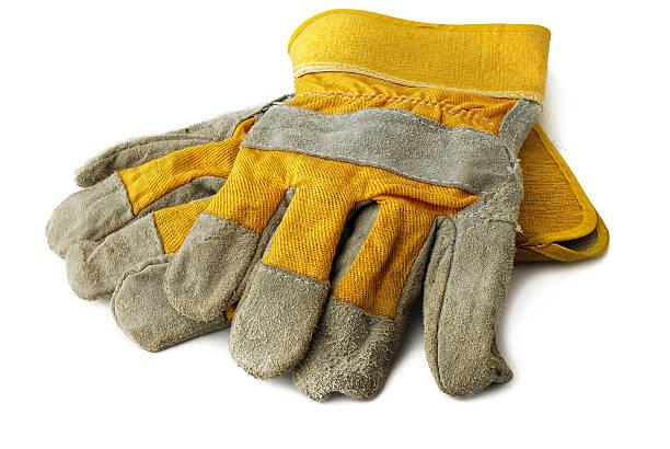 harte arbeit handschuh - arbeitshandschuhe stock-fotos und bilder