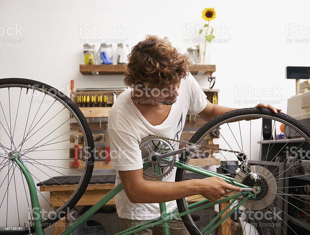 Hard work is the key to success stock photo