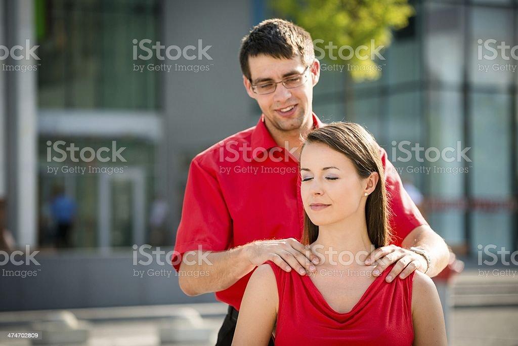 Hard work - massage will help royalty-free stock photo