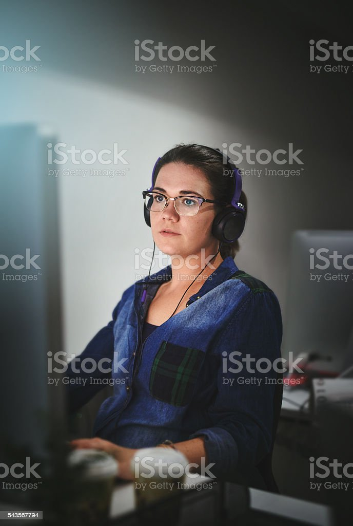 Hard work never bothered her anyway stock photo