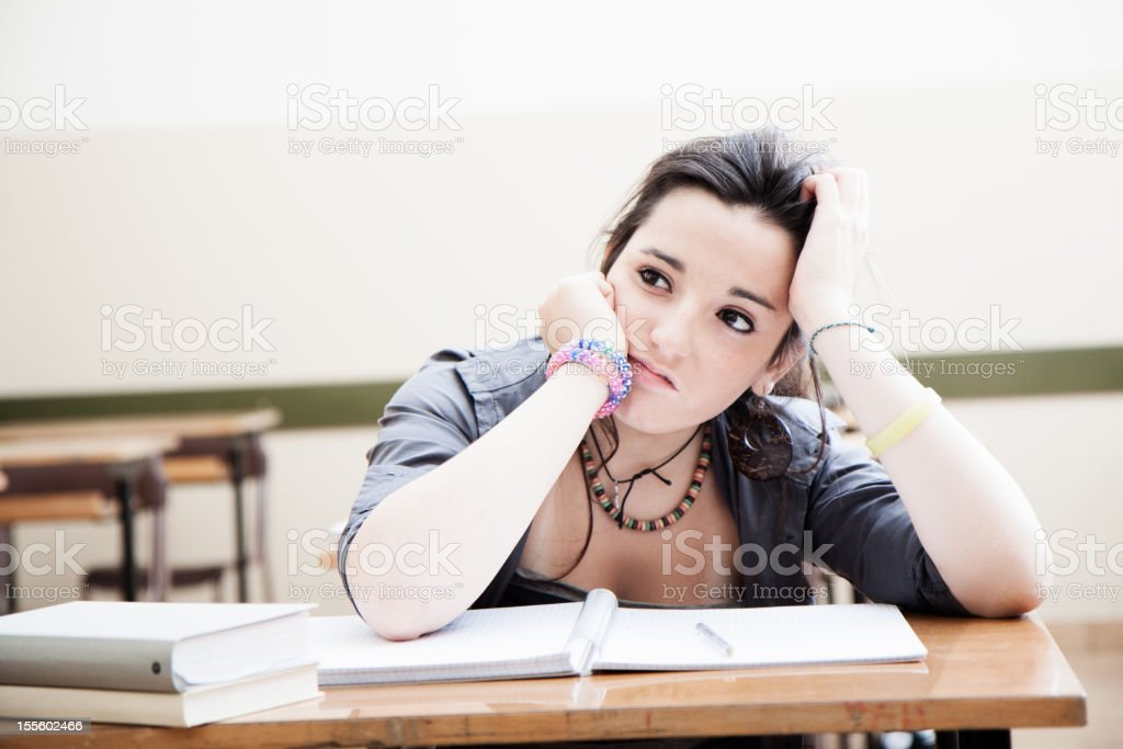 Hard work of the student stock photo
