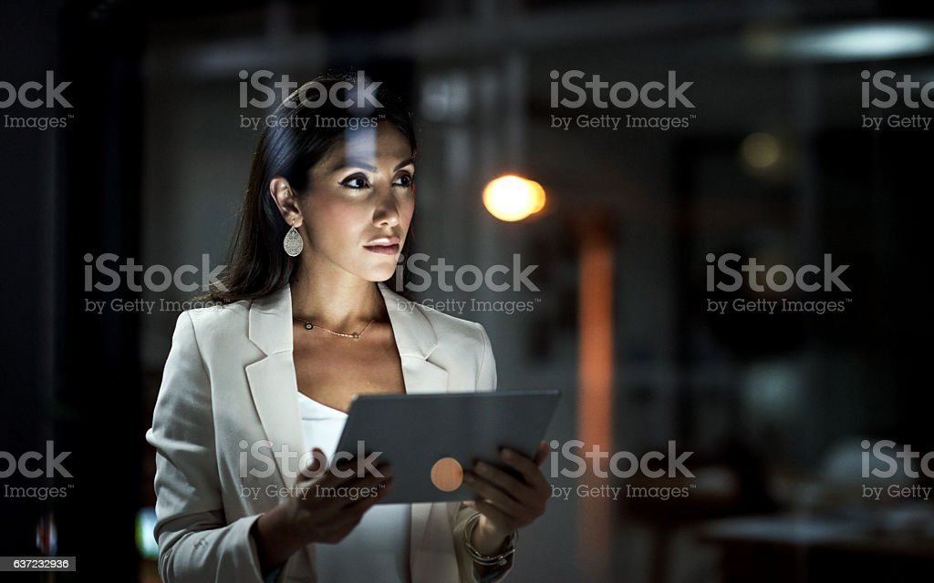 Hard work puts you in the path of success stock photo