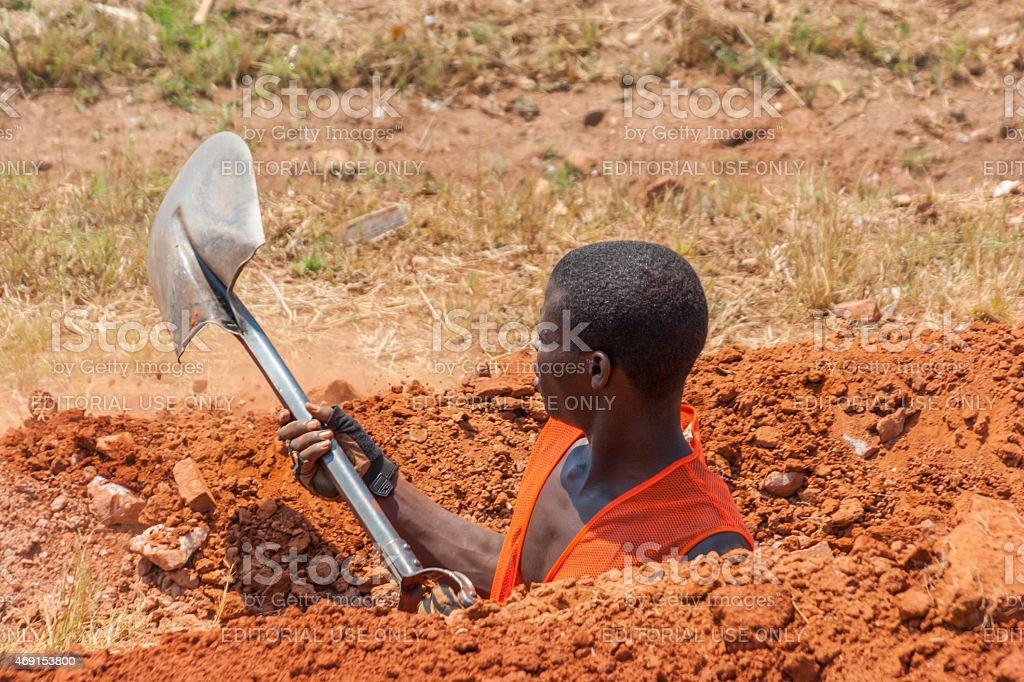 Hard worker stock photo