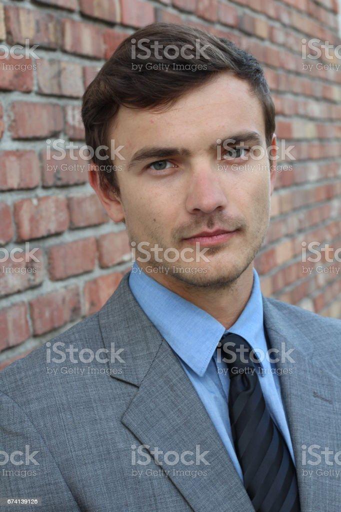 Hard worker trustable looking businessman stock photo