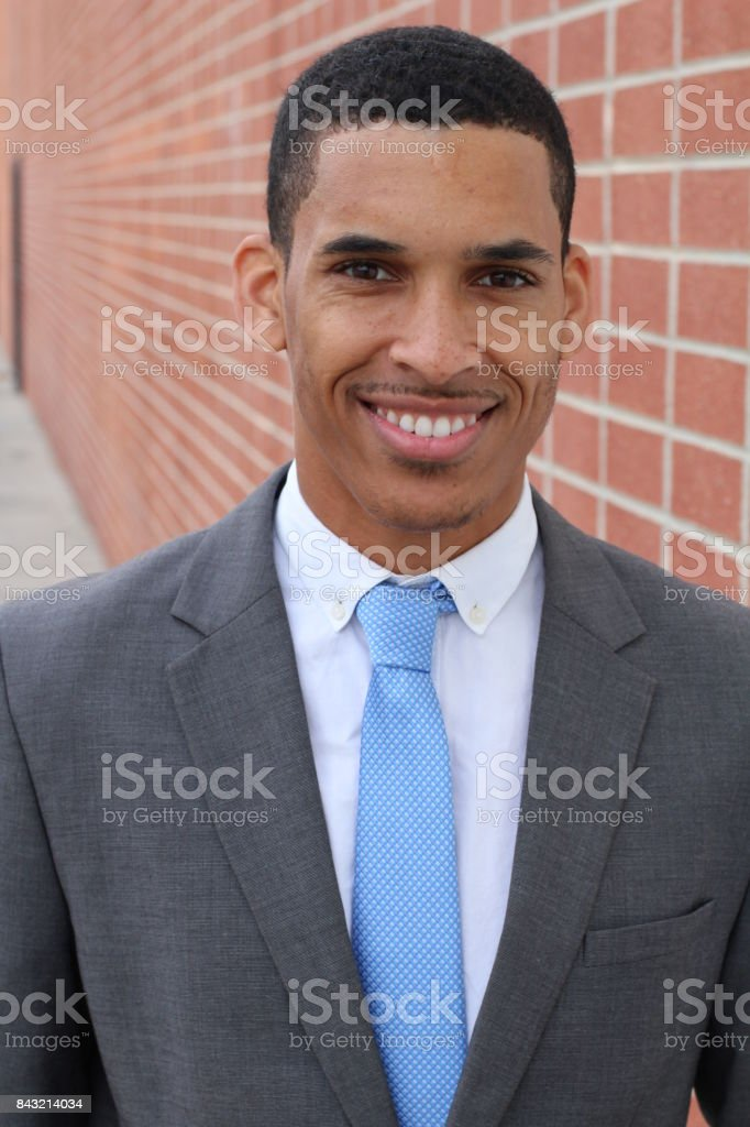 Hard worker trustful looking businessman stock photo