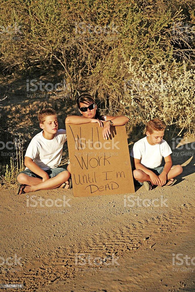 Hard working Family sitting royalty-free stock photo