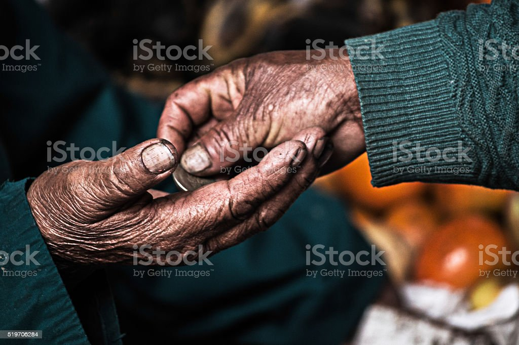 Hard working hands for money stock photo