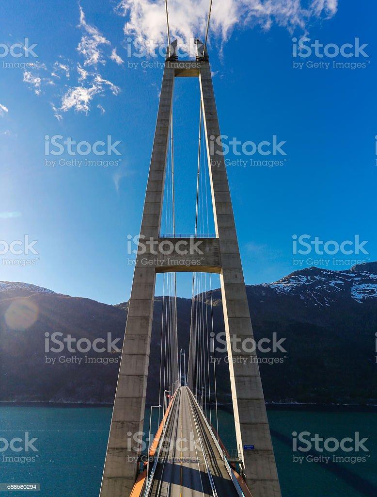 Hardanger bridge stock photo