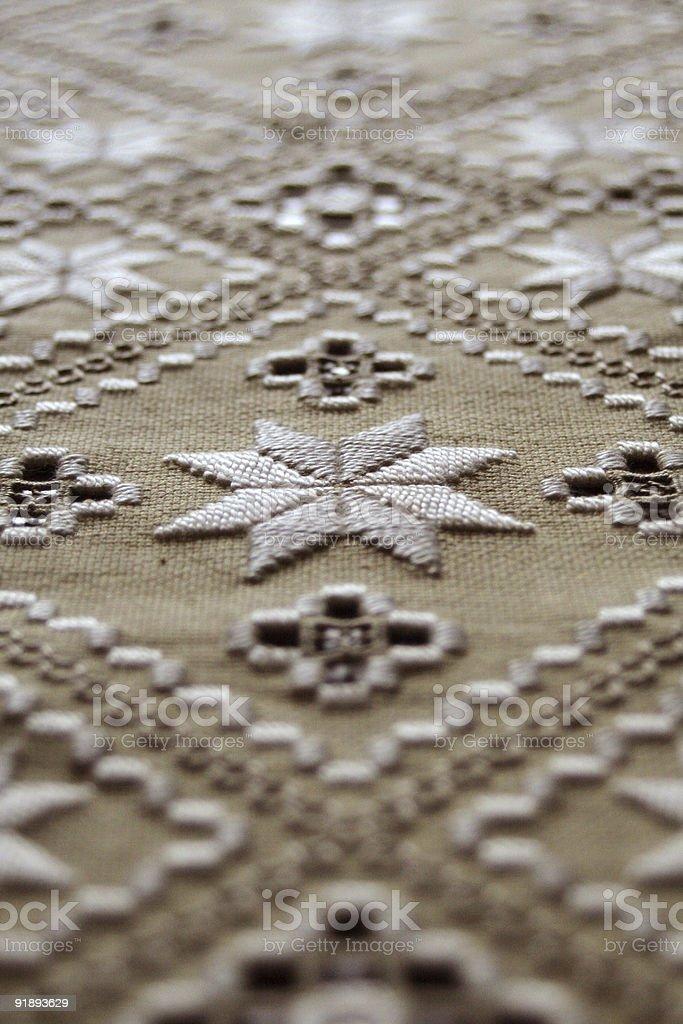 Hardanger Stitch royalty-free stock photo