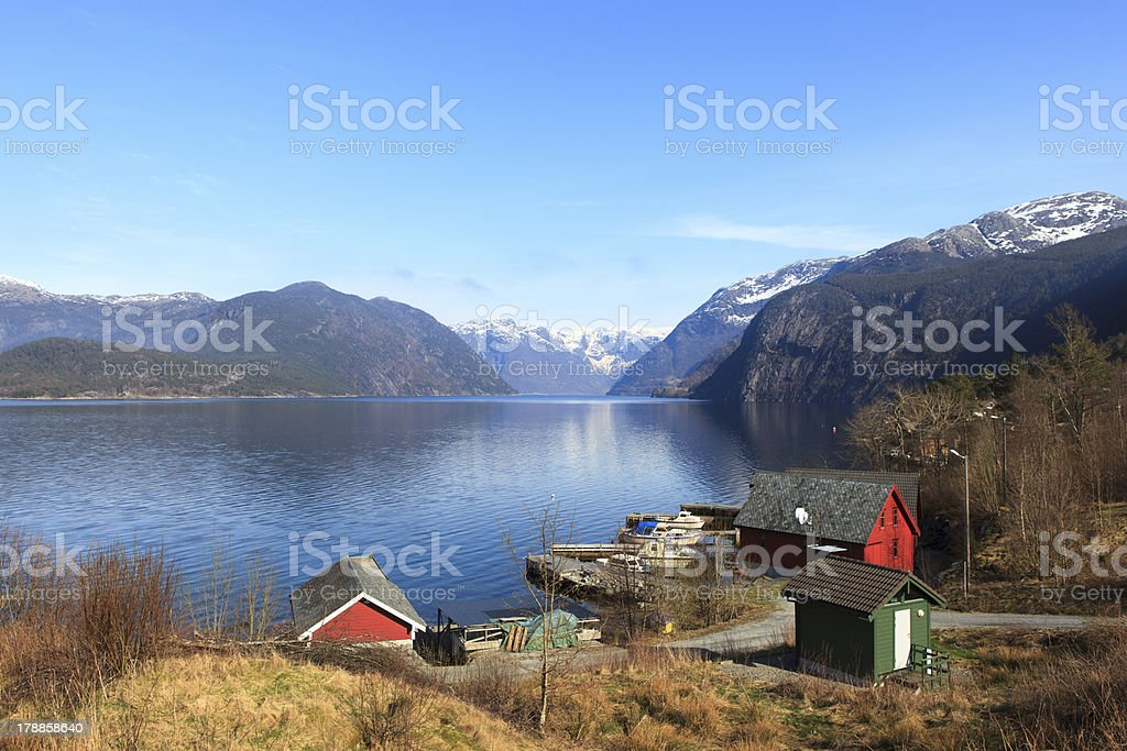 Hardangerfjord royalty-free stock photo