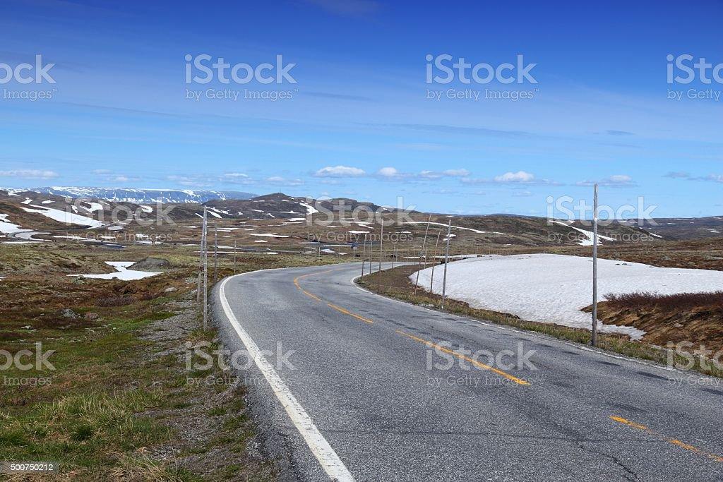 Hardangervidda road stock photo