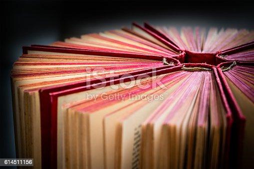 istock Hardback books or text books 614511156