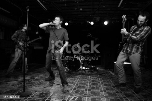 istock Hardcore Band In the Middle of A Set. 157169004