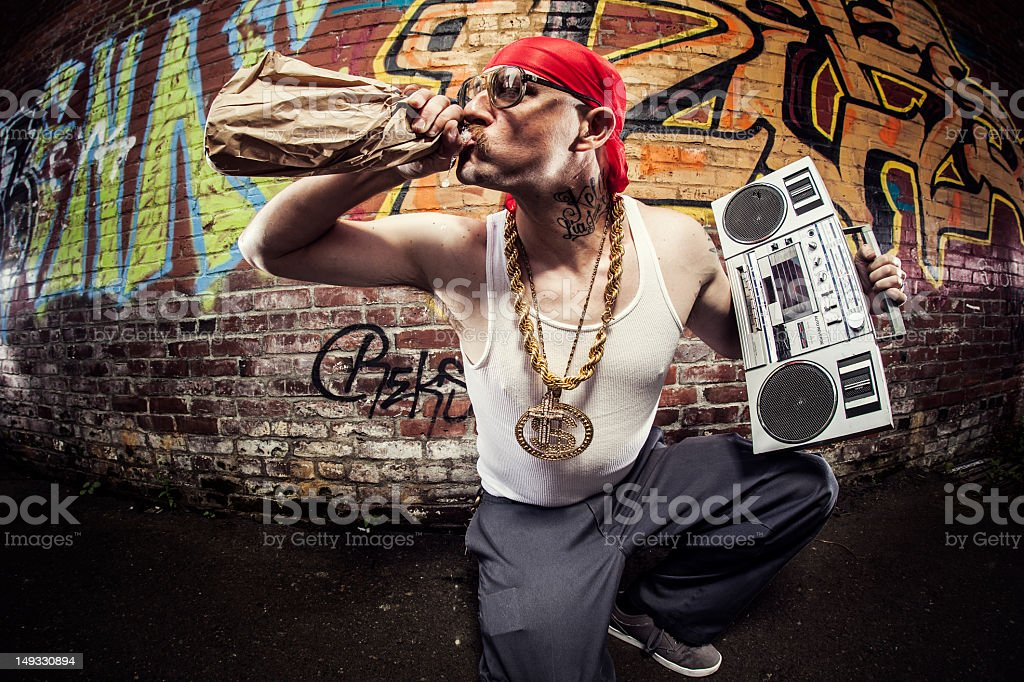 Hardcore Gangsta Rapper royalty-free stock photo