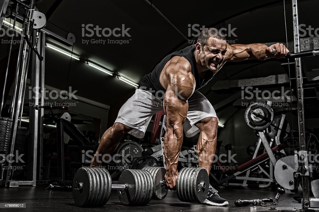 Hardcore Workout stock photo