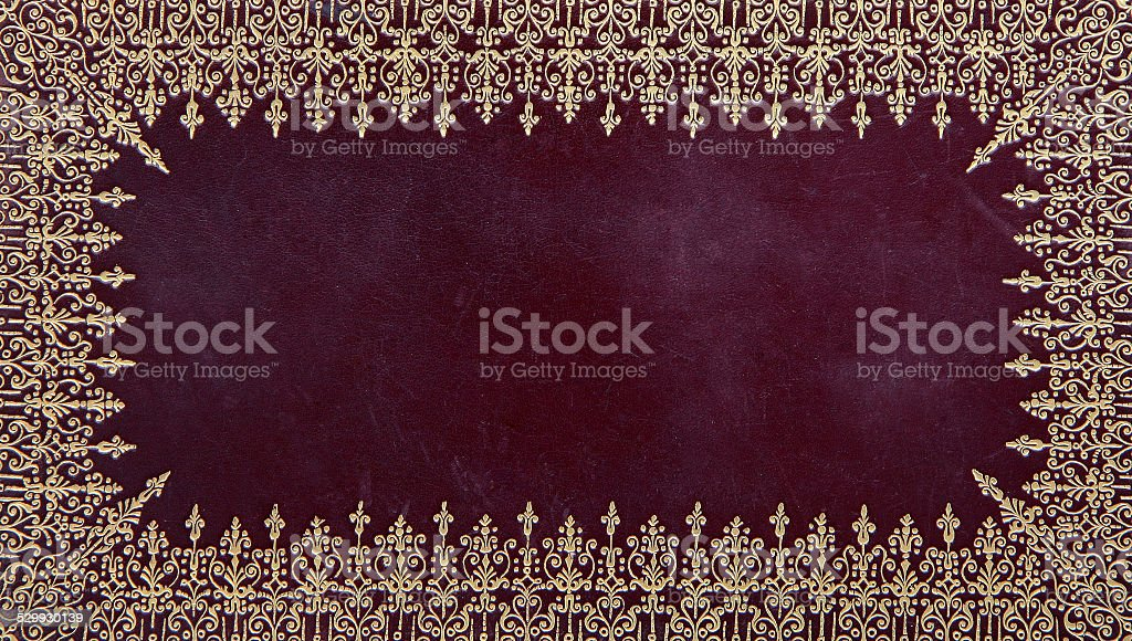 Hardcover book cover stock photo