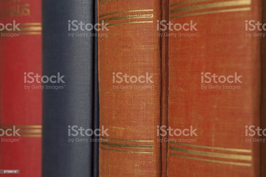Hardcover Book on the shelf royalty-free stock photo