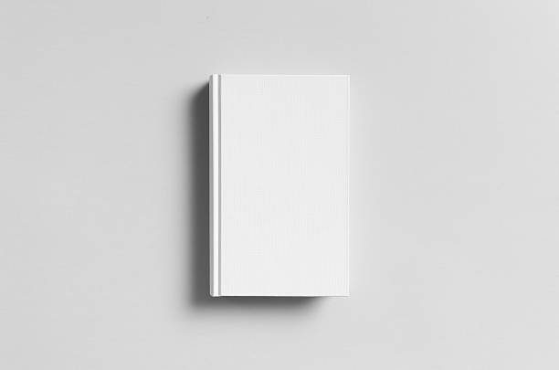 Hardcover Canvas Book Mock-Up - Front Hardcover Book Cover Mock-Up - Dust Jacket hardcover book stock pictures, royalty-free photos & images